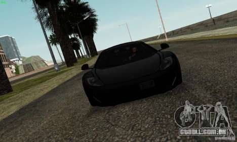 McLaren MP4-12C para GTA San Andreas vista interior