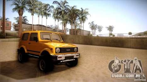 Suzuki Samurai para GTA San Andreas traseira esquerda vista