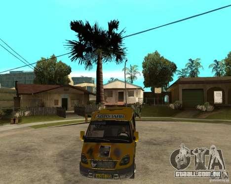 Gaz gazela 2705 Minibus para GTA San Andreas vista traseira