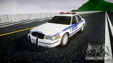 Ford Crown Victoria Police Department 2008 NYPD para GTA 4 vista direita