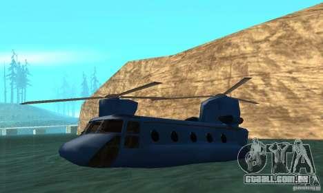 CH-47 Chinook ver 1.2 para GTA San Andreas vista superior