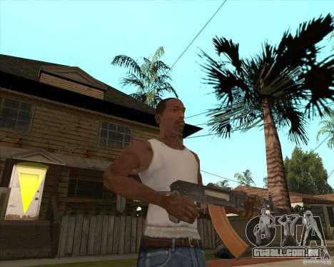 AK74U para GTA San Andreas terceira tela