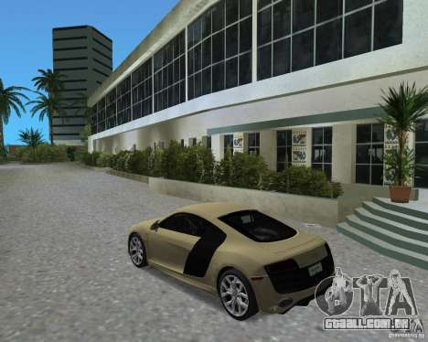 Audi R8 5.2 Fsi para GTA Vice City deixou vista