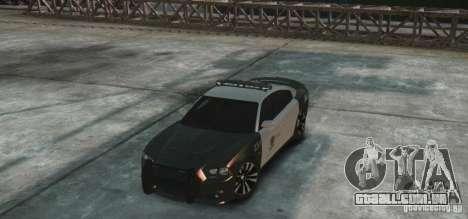 Dodge Charger 2011 Police para GTA 4 vista de volta