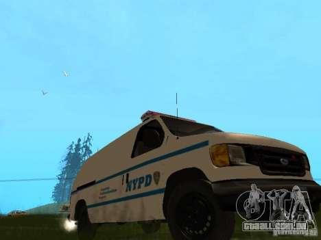 Ford E-150 NYPD Police para GTA San Andreas esquerda vista