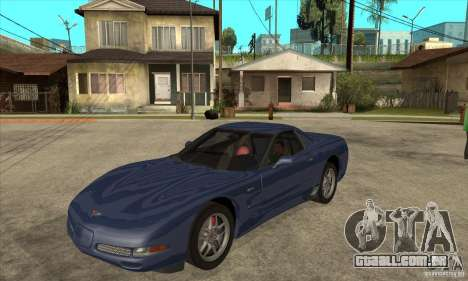 Chevrolet Corvette 5 para GTA San Andreas vista inferior
