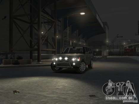 Range Rover Supercharged 2008 para GTA 4 vista superior