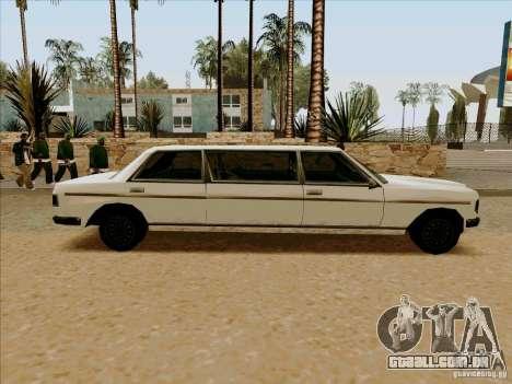 Admiral Limo para GTA San Andreas esquerda vista