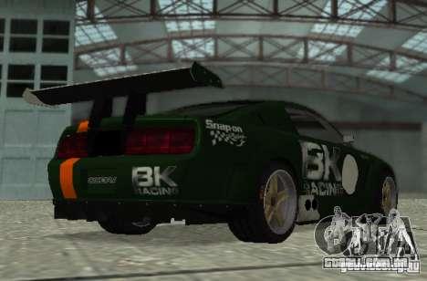 Ford Mustang GT-R para vista lateral GTA San Andreas