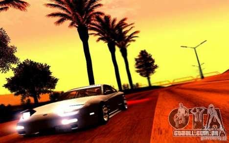 Nissan 150SX Drift para GTA San Andreas vista traseira