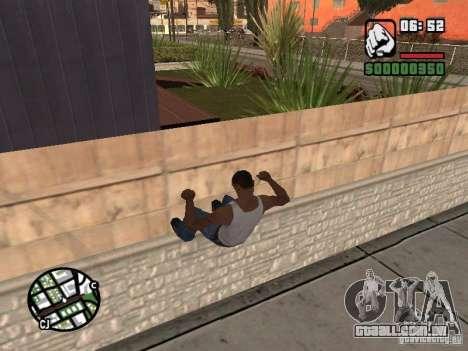 PARKoUR para GTA San Andreas quinto tela