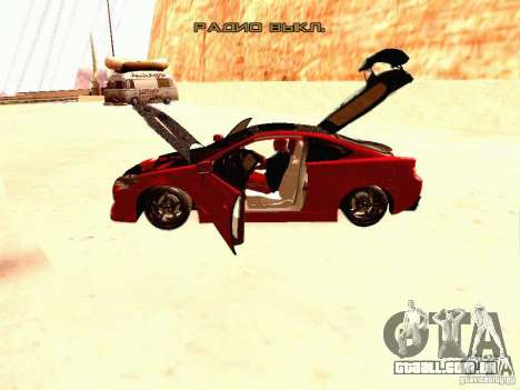 Acura RSX Drift para GTA San Andreas vista interior