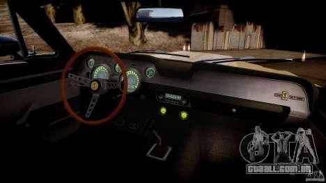 Shelby Mustang GT500 Eleanor v.1.0 Non-EPM para GTA 4 vista interior