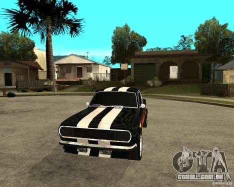 GAZ 2410 Camaro edição para GTA San Andreas vista traseira