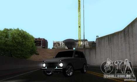 VAZ 21213 NIVA FBI para vista lateral GTA San Andreas
