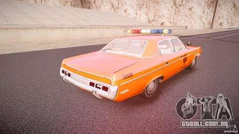 AMC Matador Hazzard County Sheriff [ELS] para GTA 4 vista superior