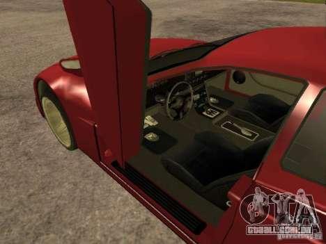 HD Cheetah para GTA San Andreas traseira esquerda vista