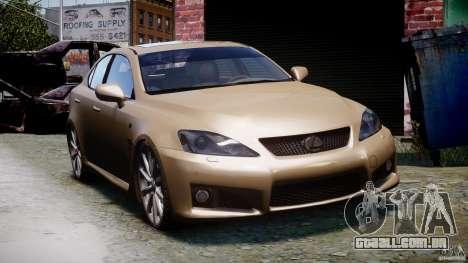 Lexus IS F para GTA 4 vista de volta