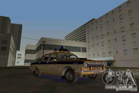 GAZ-24-milícia para GTA Vice City deixou vista