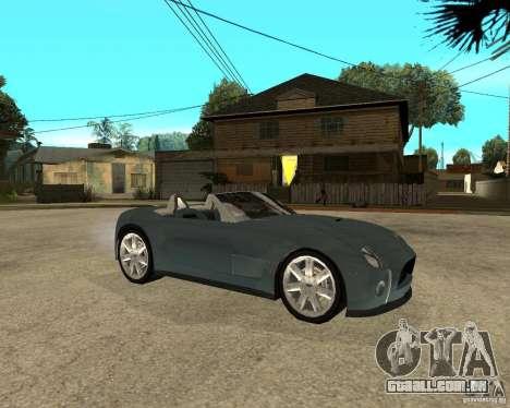 Ford Cobra Concept para GTA San Andreas vista direita