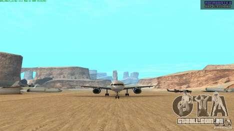 Boeing 757-200 Final Version para GTA San Andreas esquerda vista