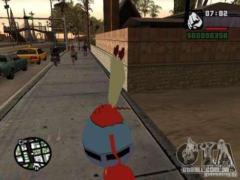 O Sr. Siriguejo para GTA San Andreas por diante tela