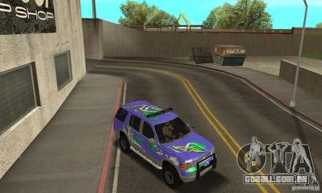Ford Explorer 2002 para GTA San Andreas vista inferior