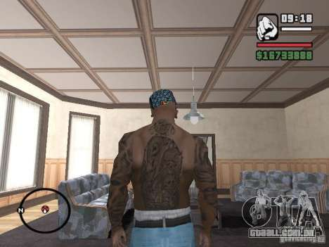 Ami James & Chris Nunez Tattoo para GTA San Andreas segunda tela