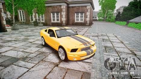 Shelby GT 500 KR 2008 K.I.T.T. para GTA 4 vista de volta