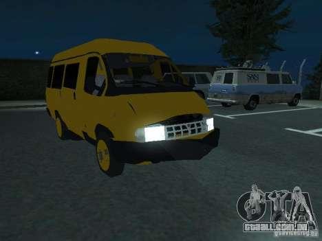 Táxi de gazela para vista lateral GTA San Andreas