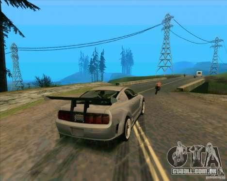 Ford Mustang GTR para GTA San Andreas traseira esquerda vista