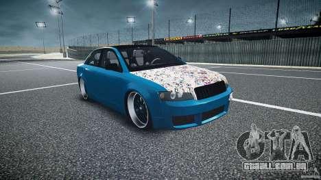 Audi S4 Custom para GTA 4 vista de volta