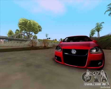 Volkswagen Golf MK5 GTI Stance para GTA San Andreas vista traseira