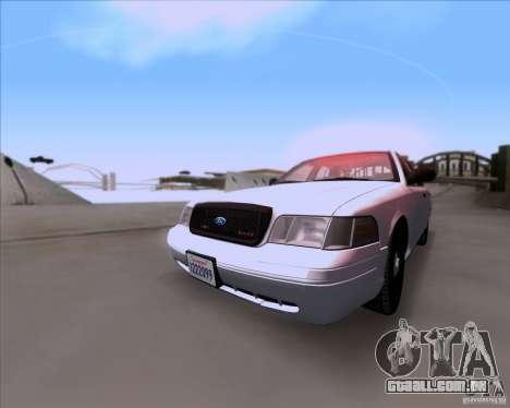 Ford Crown Victoria 2009 Detective para GTA San Andreas esquerda vista