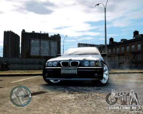 BMW 530I E39 [Final] para GTA 4 vista de volta