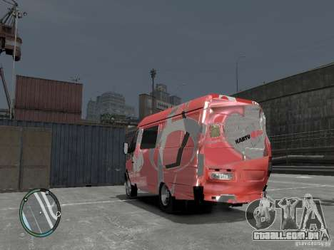 Gazela 2705 Telkomsel Van para GTA 4 vista interior