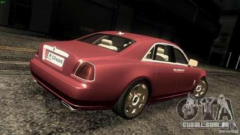 Rolls-Royce Ghost 2010 V1.0 para GTA San Andreas vista direita