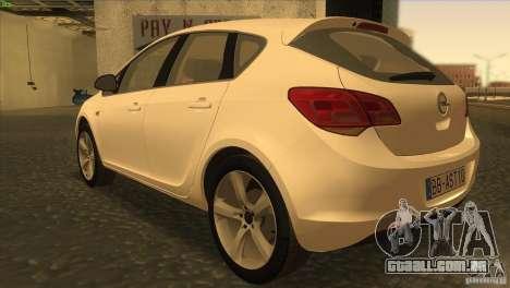 Opel Astra 2010 para GTA San Andreas traseira esquerda vista