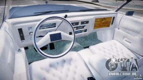 Cadillac Fleetwood Brougham 1985 para GTA 4 traseira esquerda vista