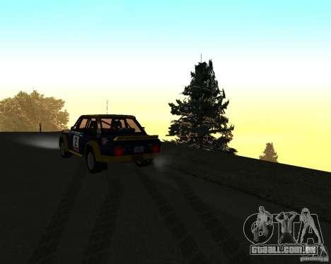 Fiat 131 Rally para GTA San Andreas vista superior