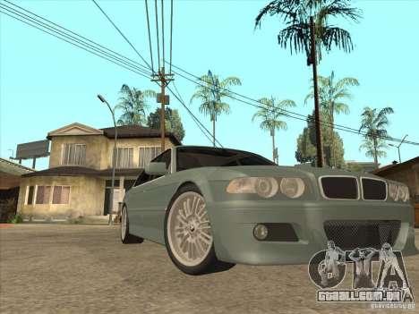 BMW E38 M7 para GTA San Andreas vista traseira
