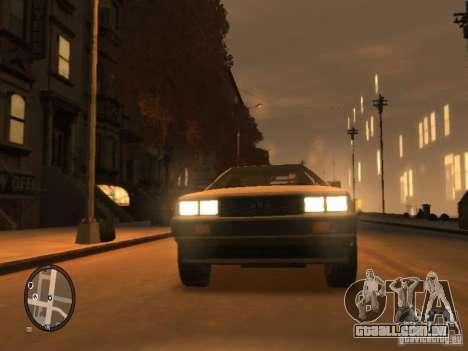 De Lorean DMC 12 para GTA 4 esquerda vista