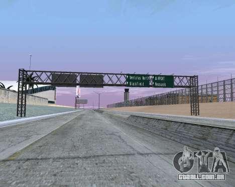 Estrada sinais v 1.2 para GTA San Andreas segunda tela