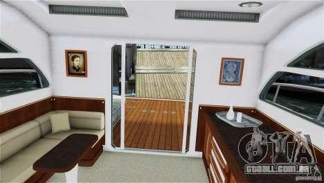 Luxury Yacht para GTA 4 traseira esquerda vista