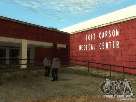 Renovação do hospital em Fort Carson para GTA San Andreas terceira tela