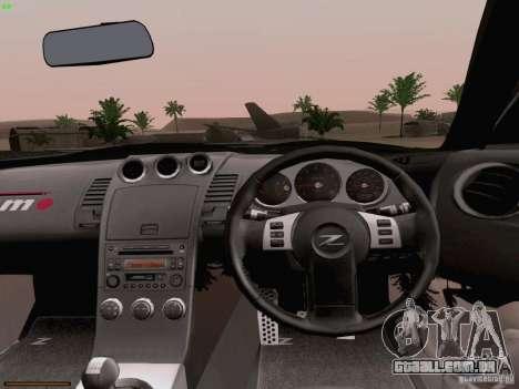 Nissan 350Z Nismo S-Tune para vista lateral GTA San Andreas