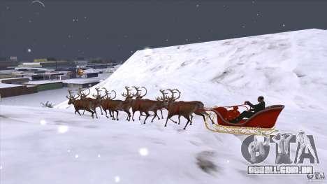 É que a equipe do Papai Noel para GTA San Andreas esquerda vista