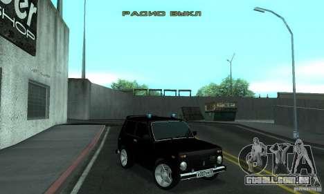VAZ 21213 NIVA FBI para GTA San Andreas