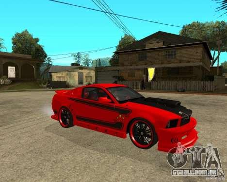 Ford Mustang Red Mist Mobile para GTA San Andreas vista direita