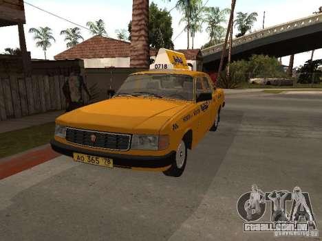 Volga GAZ 31029 Taxi para GTA San Andreas vista direita